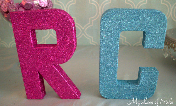 """Glittered Letter Tutorial"""