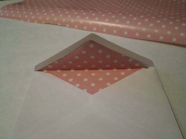 Fold top of envelope over