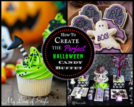 how to create a halloween candy buffet my love of style my love of style. Black Bedroom Furniture Sets. Home Design Ideas