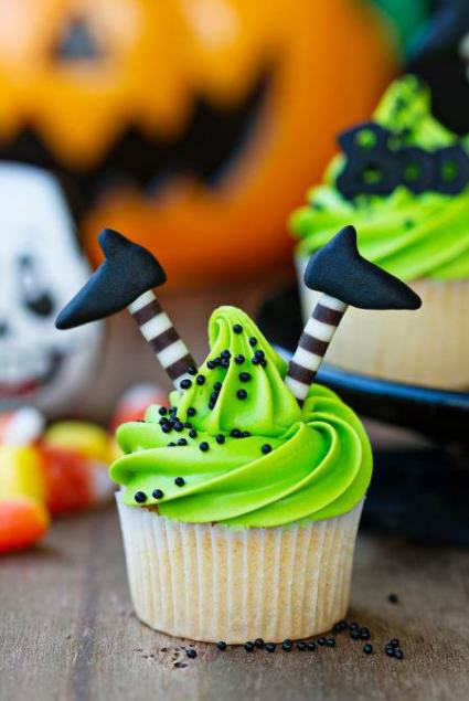 Halloween Witch Legs Cupcake