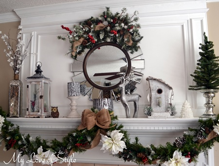 Winter Christmas Mantle