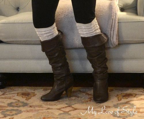 EASY Cable Knit Boot Sock Tutorial