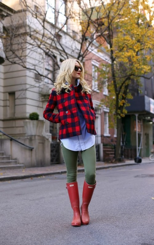 Green Jeans, Chambray and Rain Boots