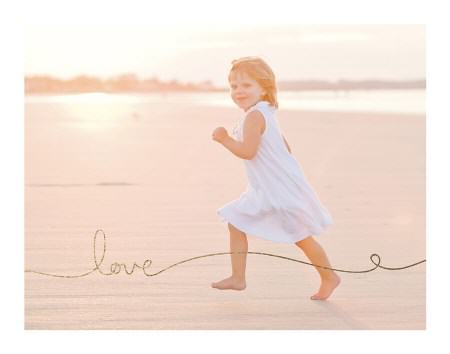 Love Gold Foil Photo Art