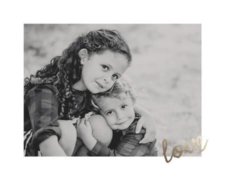 gold foil love photo
