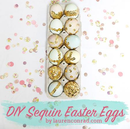 Sequin Easter Eggs