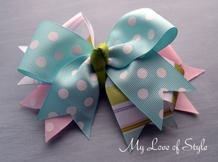 3 Layer Triple Stack Hair Bow Tutorial