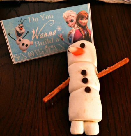 Add the Pretzel Sticks for Snowman's arms