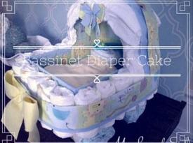 DIY Bassinet Diaper Cake