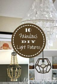 10 Fabulous DIY Light Fixture