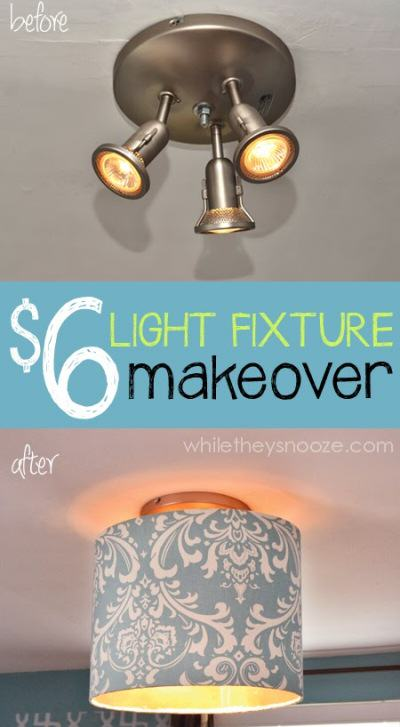 Drum Light Fixture Makeover