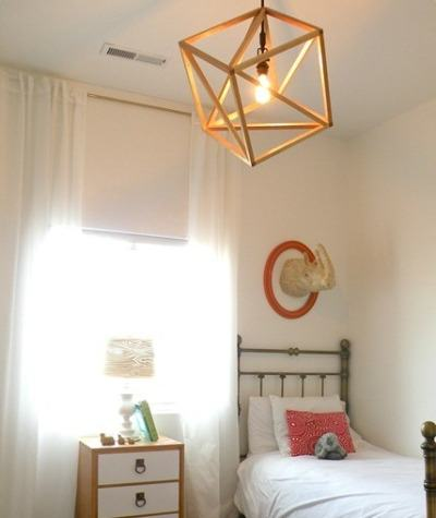 DIY Wood Cube Pendant Light Fixture