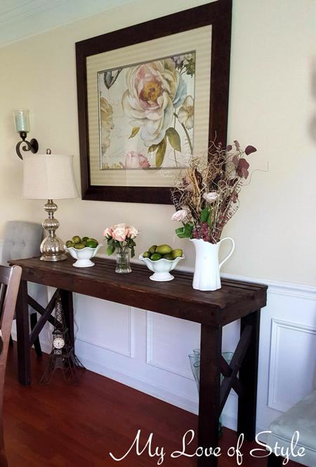 Rustic Sofa Table Tutorial