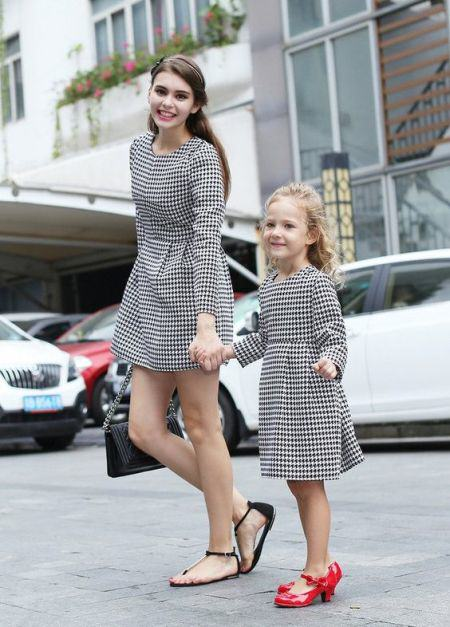 Houndstooth Mommy and Me Dress
