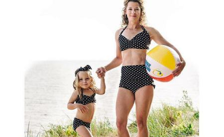 mommy and me matching swim suits