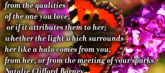 When you are in love never really know if the elation comes from the qualities