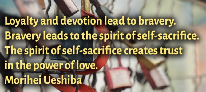 The spirit of self-sacrifice creates trust in the power of love