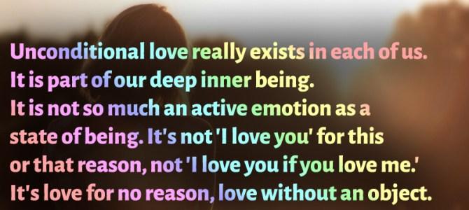 It's not 'I love you if you love me' , it's love for no reason