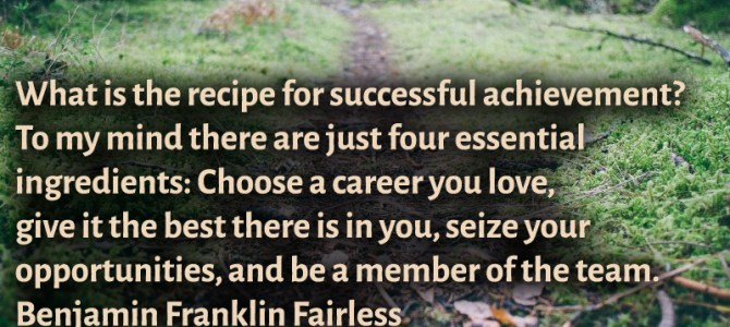 Choose a career you love, that is the secret of success
