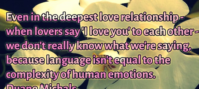 When lovers say 'I love you' don't really know what they're saying