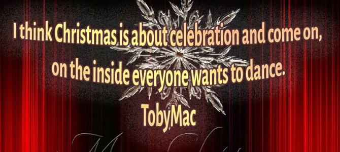 I think Christmas is about celebration and everyone wants to dance