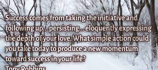 Success comes from taking the initiative and following up… persisting