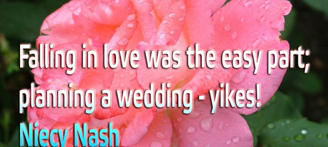 Falling in love was the easy part; planning a wedding – yikes