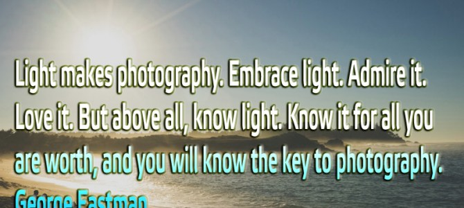 Light makes photography. Embrace light. Admire it. Love it