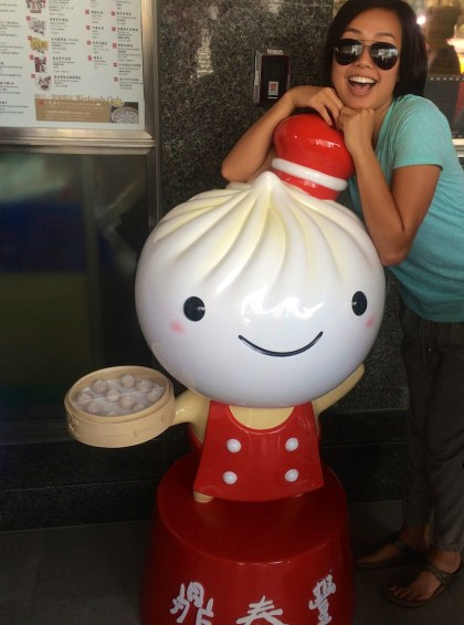 Din Tai Fung Mascot and hungry Linh