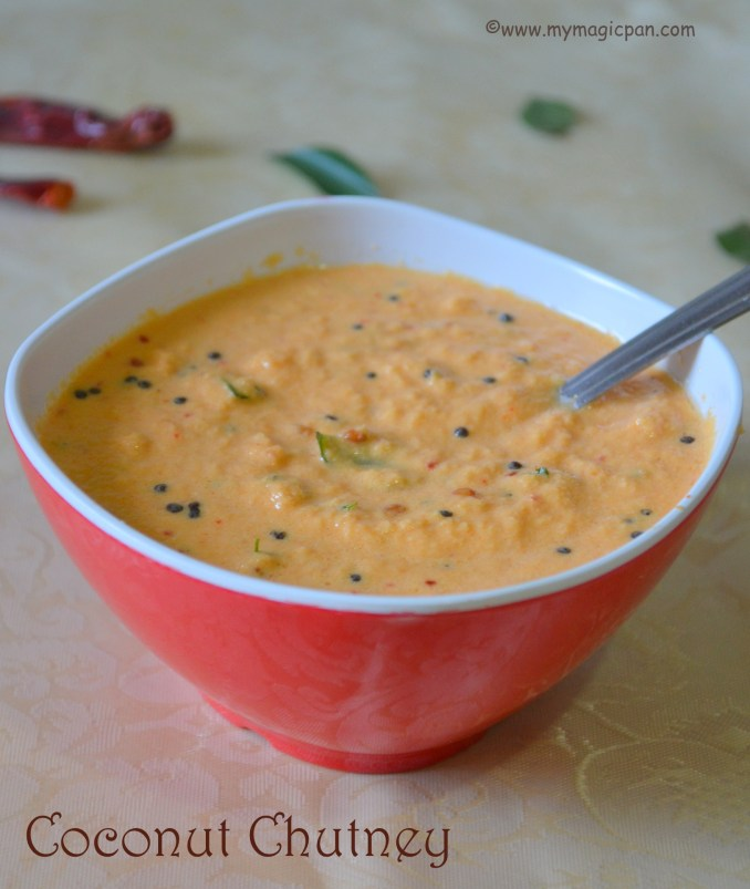 Spicy Red Coconut Chutney My Magic Pan