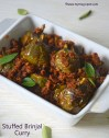 Stuffed Brinjal Fry - Stuffed Brinjal Curry