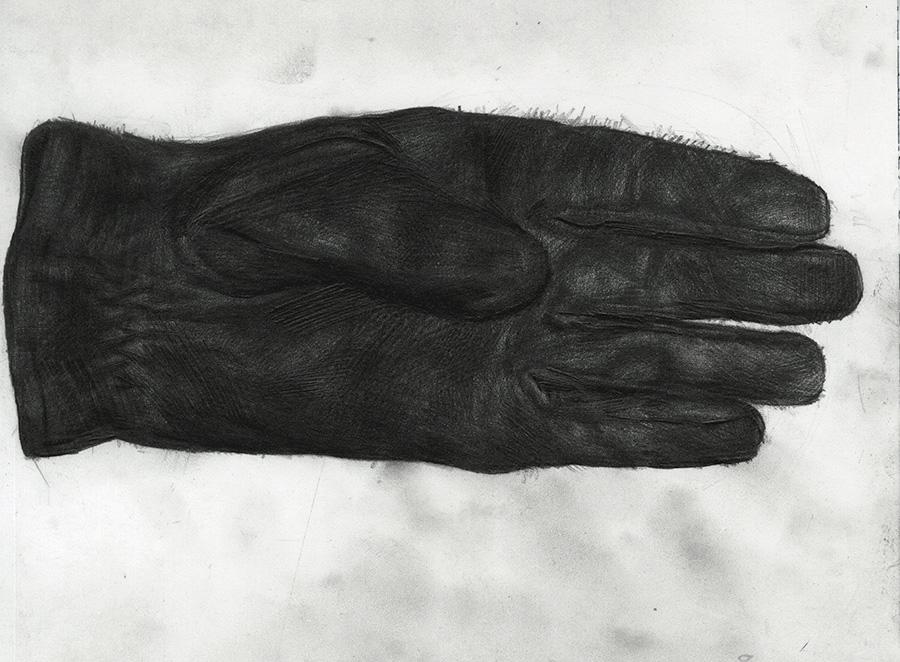 "Glove, Graphite on Paper, 9""x9.5"""