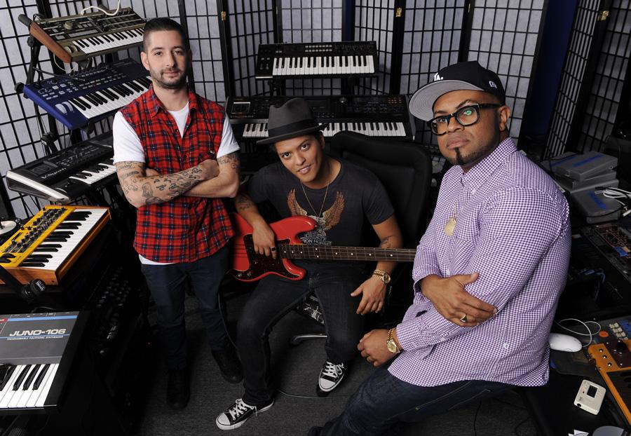 The Smeezingtons: Ari Levine, Bruno Mars, Philip Lawrence  Photo provided by The Los Angeles Film School / Yahoo