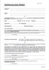 Kaufvertrag Malteser Welpen