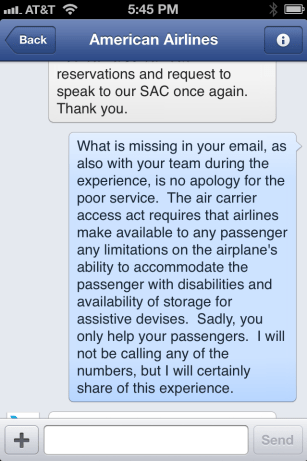 American Airlines Response 2