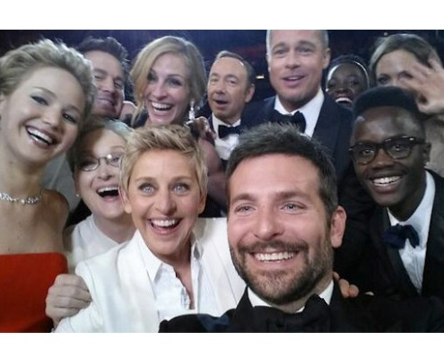 Ellen and her stars selfie