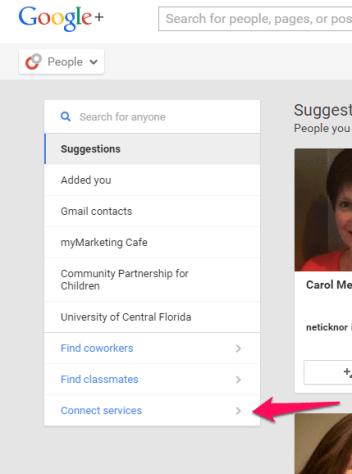 Create a Google+ custom audience
