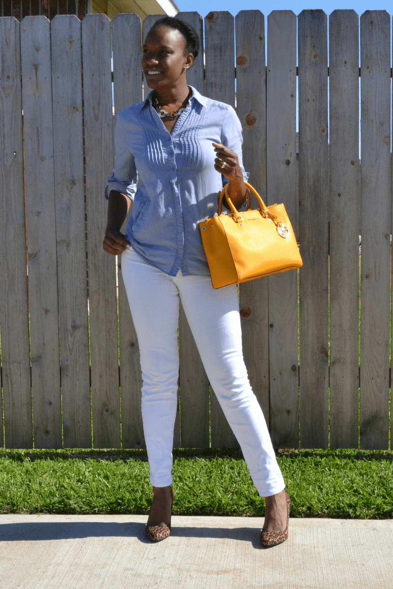 7 ways to style a chambray shirt