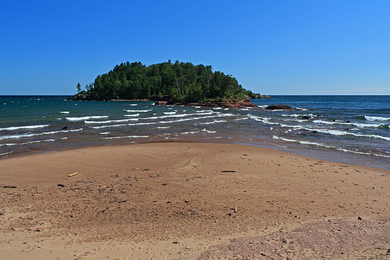 the view of little presque isle