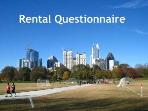 Thomas Ramon Realty Rental Questionnaire
