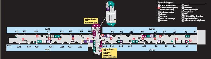 Atlanta Airport Concourses