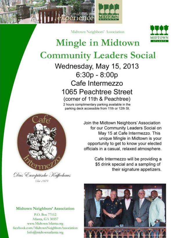 Midtown Neighbors Association Community Leaders Social