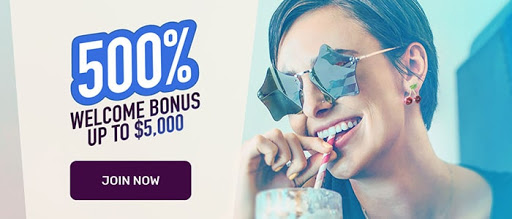 500% up to $5000 sign-up bonus for mobile players at cafe casino