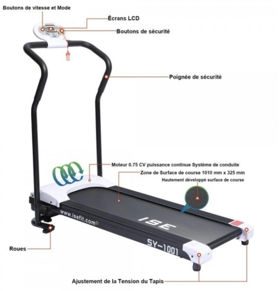 tapis de course ise neuf occasion