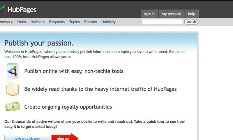 Make Money Now By Writing About This On Hubpages.com