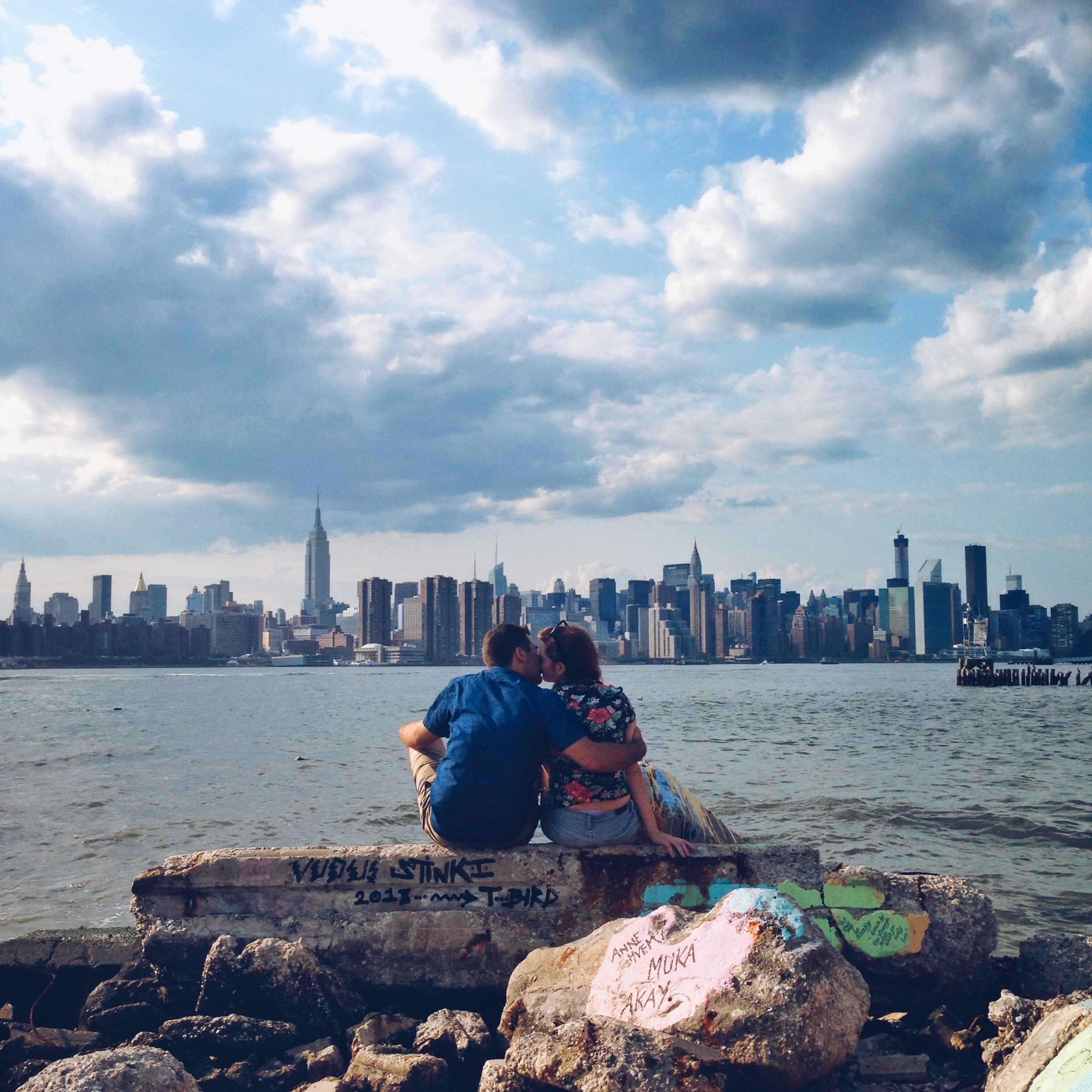 Kissing couple, Brooklyn, New York