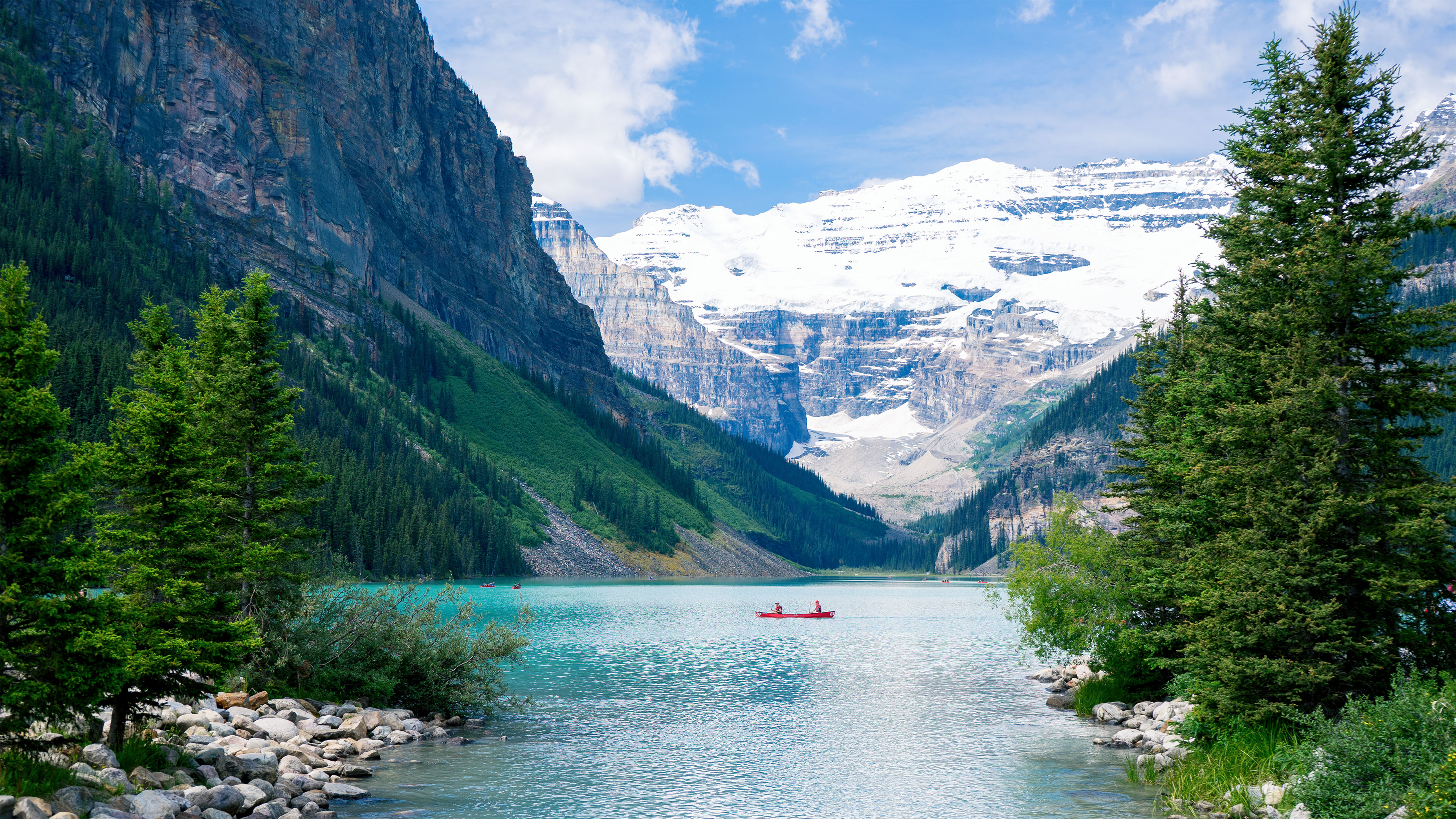 Canoeing in Lake Louise