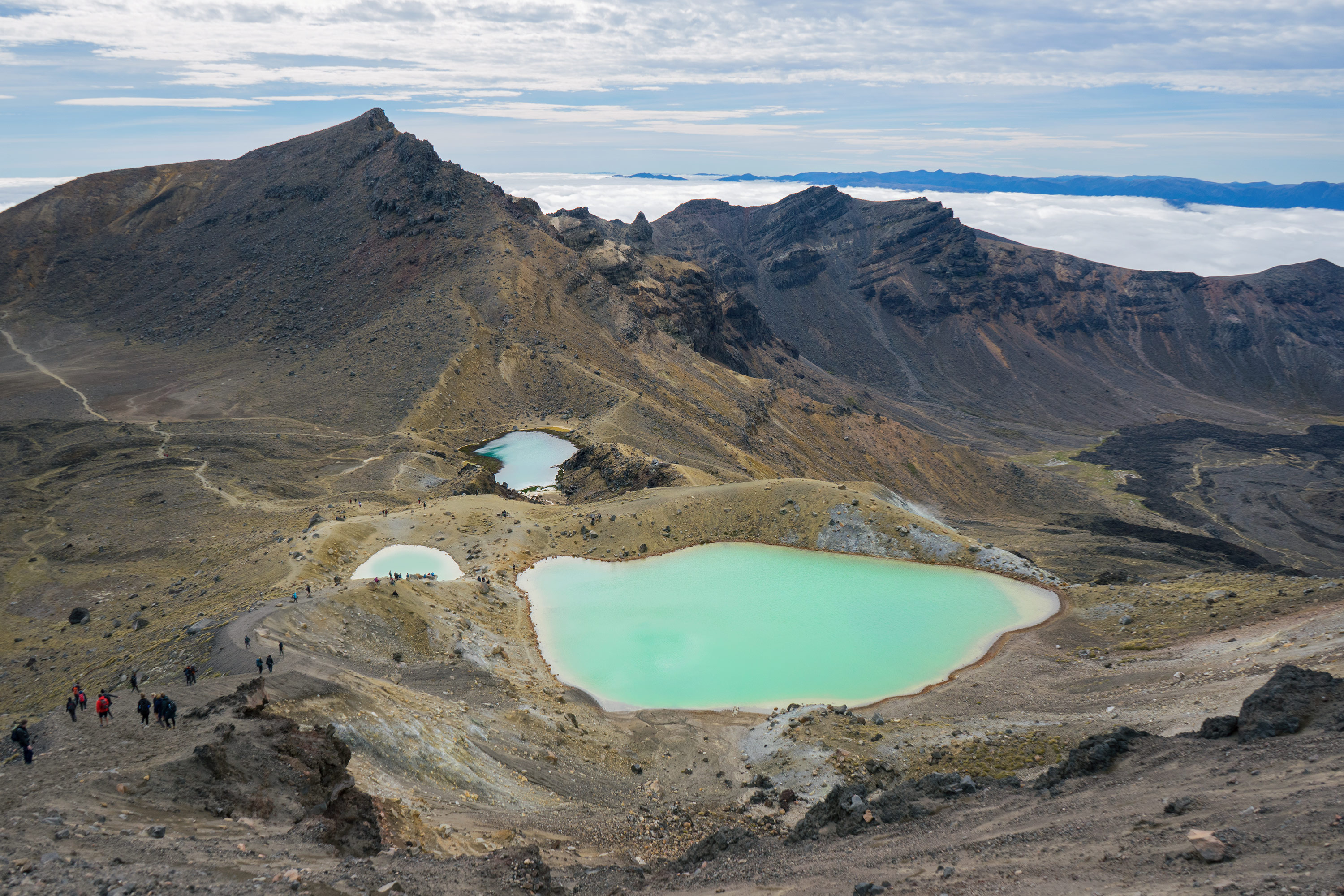 Tongariro Alpine Crossing Emerald Lakes