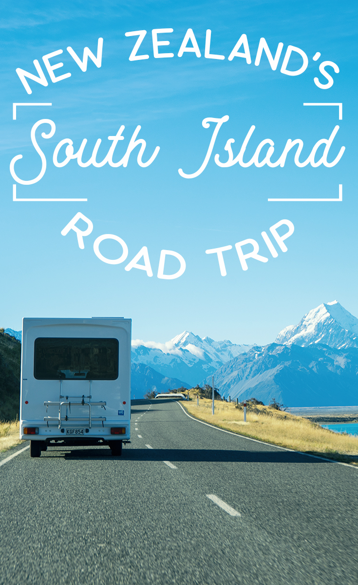Aoraki Mt Cook View RV On Road Pinterest Card