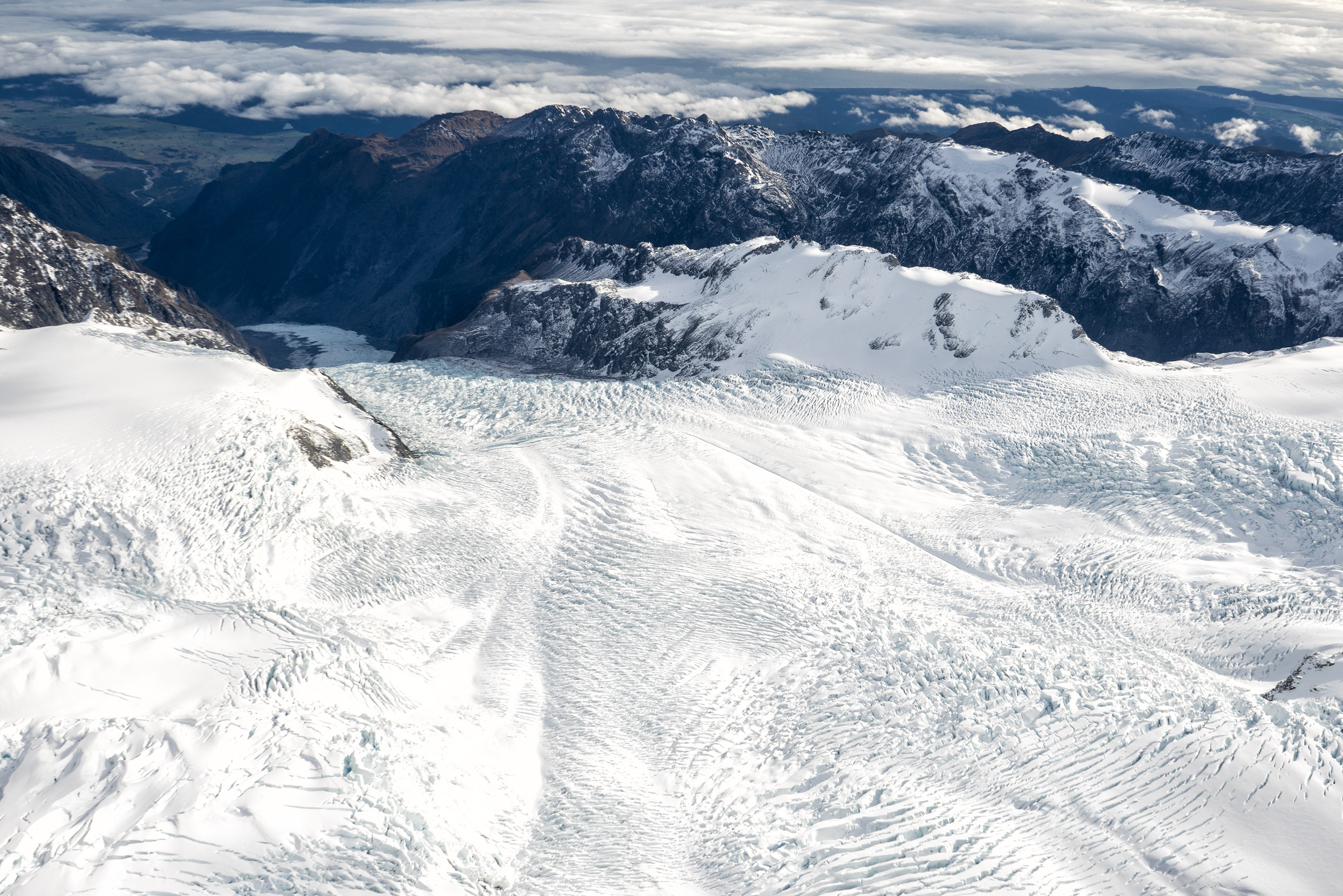 Southern Alps From Above Top Of Fox Glacier View
